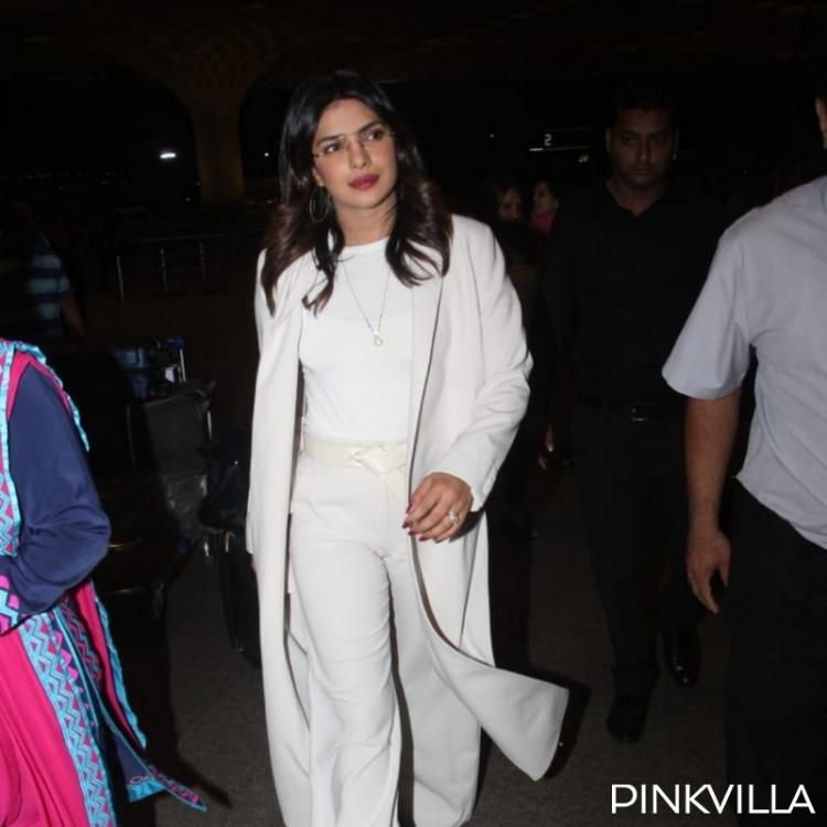 Airport Diaries: Priyanka Chopra dons an all time classic all white look as she heads back home