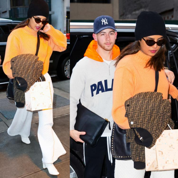 Priyanka Chopra Jonas' winter look has a Fendi jacket & blast of colours to twin with Nick Jonas: Yay or Nay?