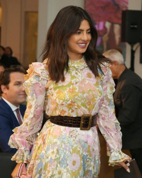 Priyanka Chopra Jonas takes the floral route in a ruffle Zimmermann dress & gives us lessons on power dressing