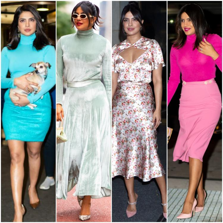 Priyanka Chopra shows she is the queen of rocking outfits & serves four looks while in New York; Check it out