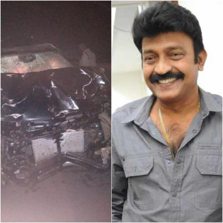 Telugu actor Rajasekhar meets with car accident; CCTV footage and other evidence collected