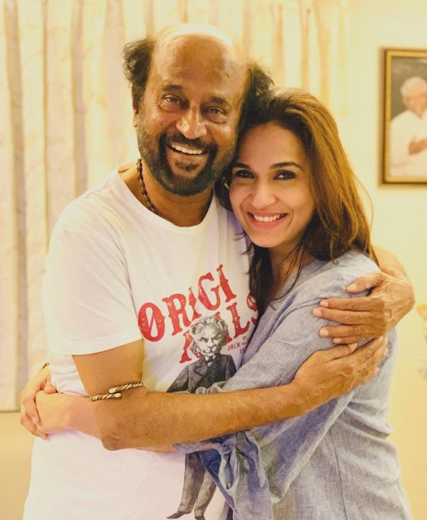 Soundarya gets emotional as she shares a throwback video of Rajinikanth, Says 'A day we will forever remember'