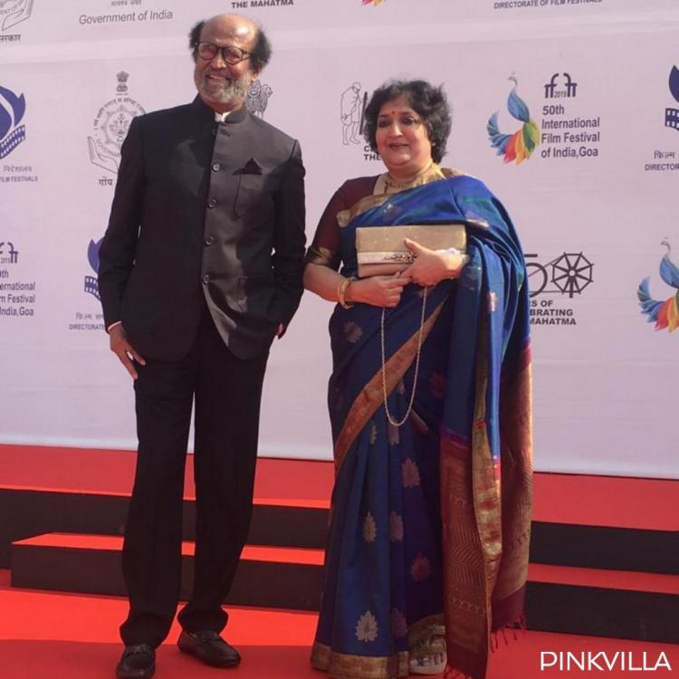 IFFI 2019: Superstar Rajinikanth poses for a happy picture with wife Latha