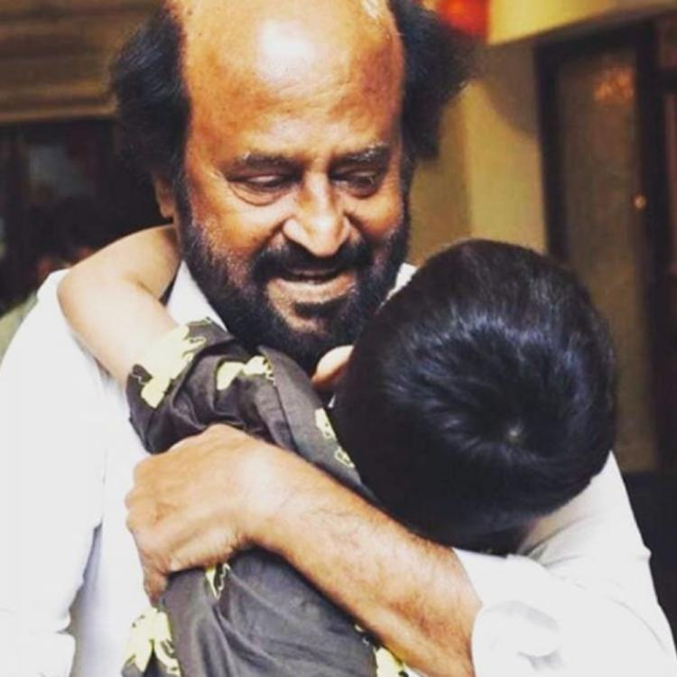 Rajinikanth holding grandson Ved in this rare PHOTO is the cutest thing on the internet right now