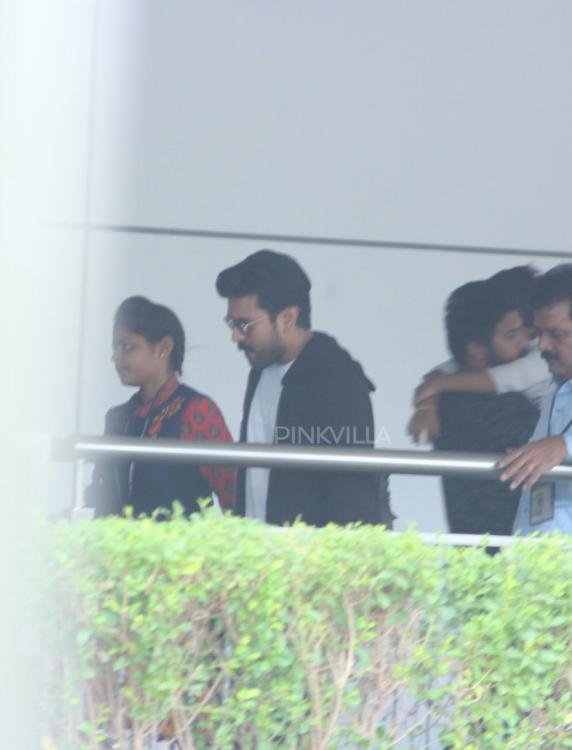 PHOTOS: Ram Charan spotted with wife Upasana at Hyderabad airport as they head for a short trip