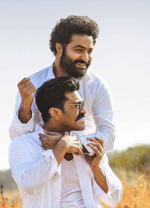 Ram Charan wishes his RRR co star Jr NTR on his birthday with an unseen pic; Says 'I owe you a return gift'