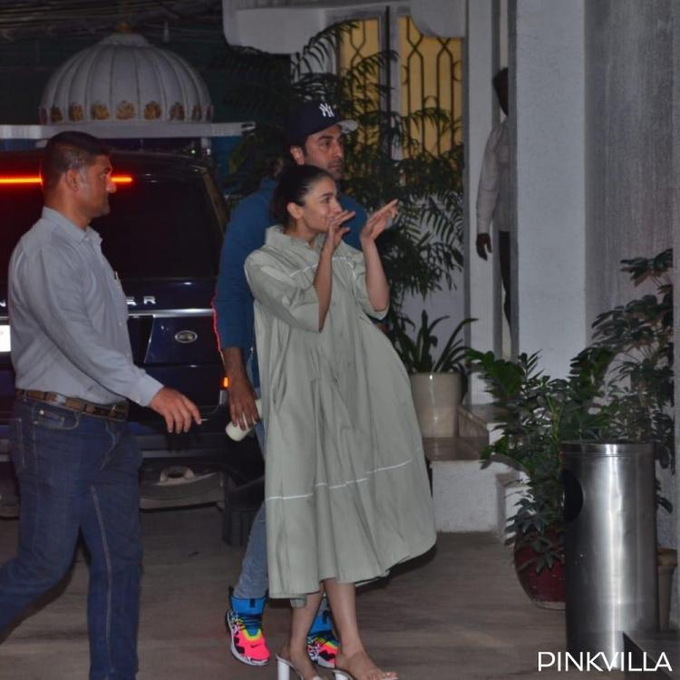 PHOTOS: Ranbir Kapoor and Alia Bhatt snapped together as they arrive at a dubbing studio