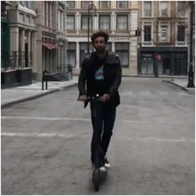 Brahmastra actor Ranbir Kapoor channels his inner child as he rides a scooter; WATCH