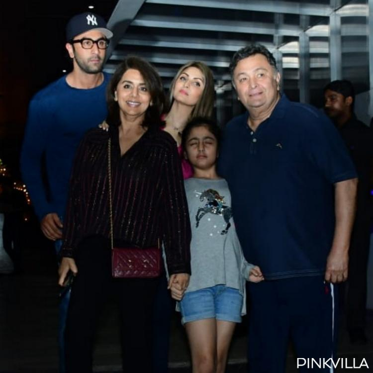 PHOTOS: Ranbir Kapoor steps out for a family dinner with Rishi Kapoor, Neetu Kapoor and Riddhima