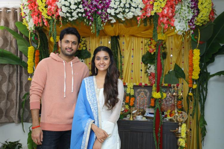 Rang De: Keerthy Suresh and Nithiin starrer goes on floors on the auspicious day of Dussehra; See Pics