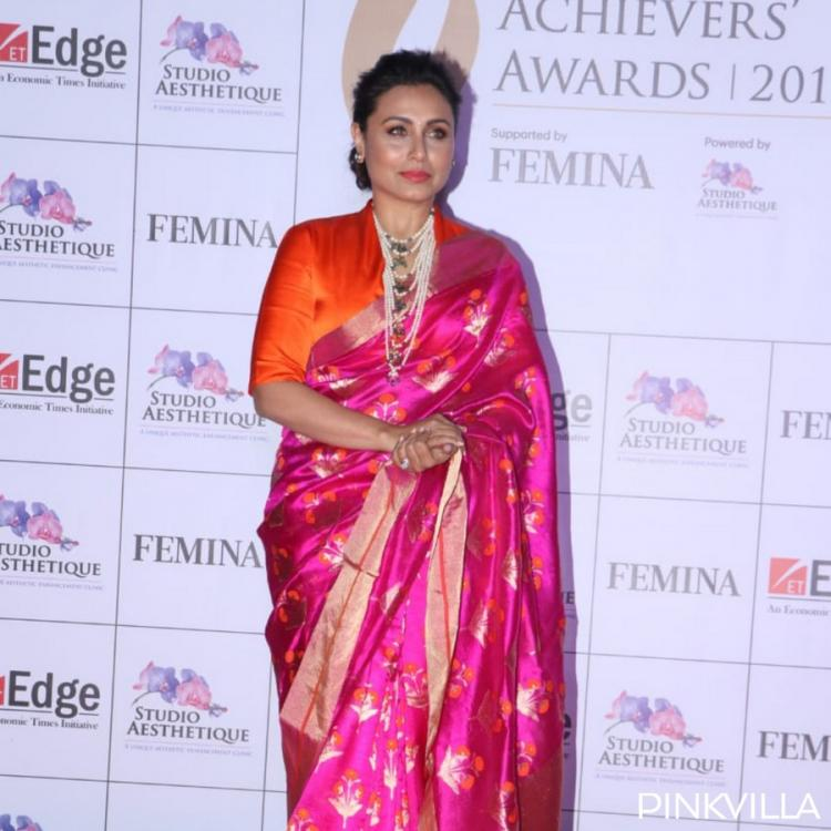 PHOTOS: Rani Mukerji looks elegant as she opts for a silk saree for an award ceremony