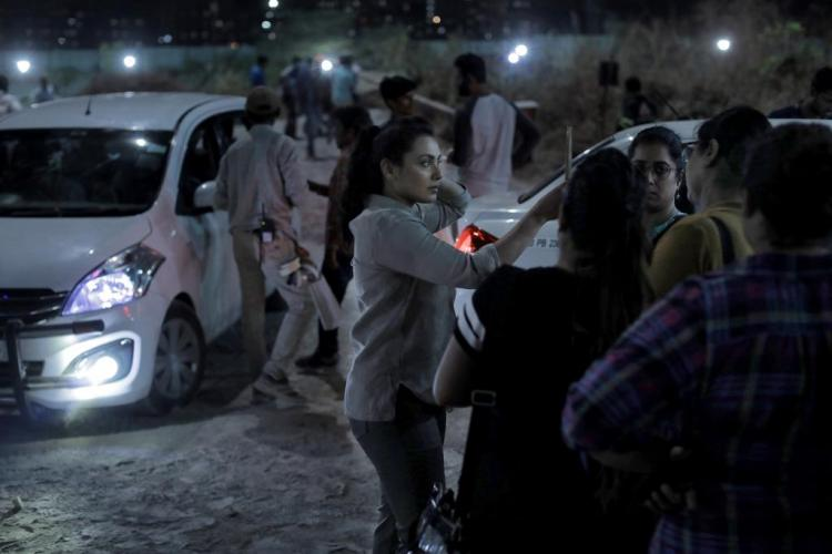 Rani Mukerji caught in action on the sets of Mardaani 2; Take a look