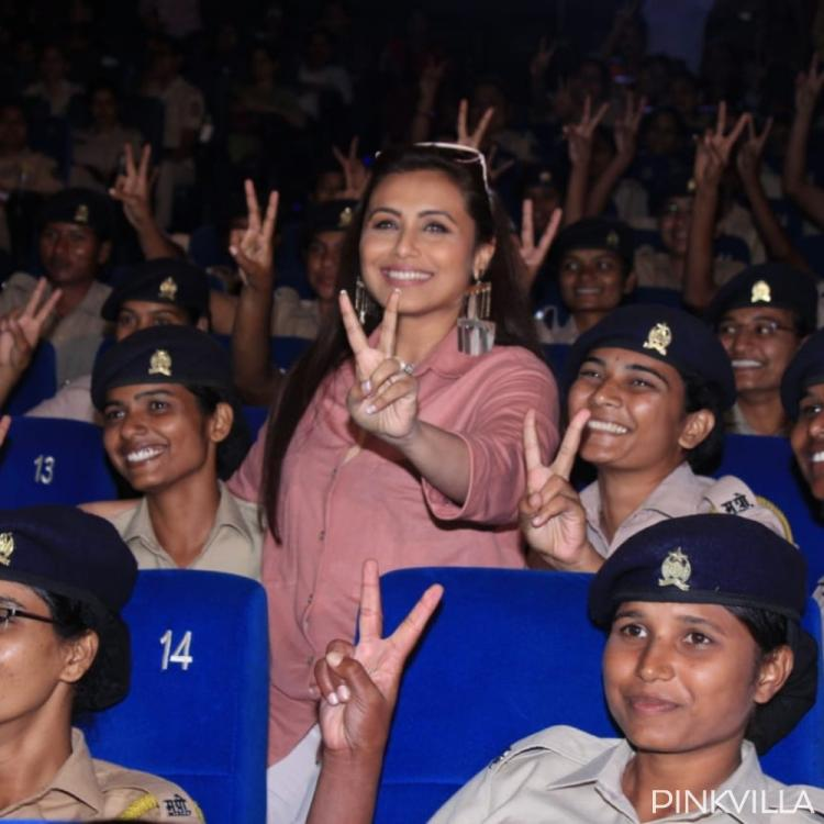PHOTOS: Rani Mukerji poses with police officials at the special screening of Mardaani 2