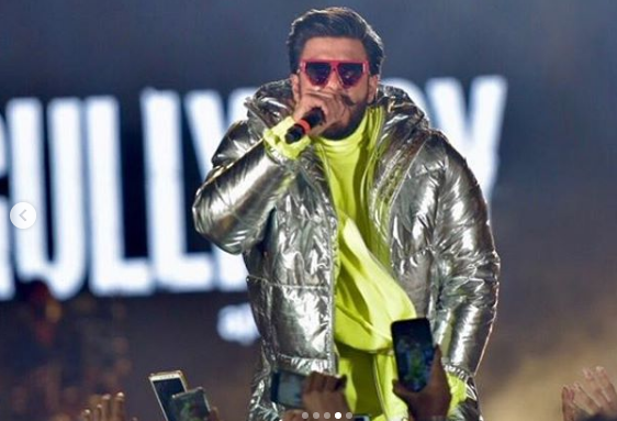 Ranveer Singh and Alia Bhatt perform at the musical concert of Gully Boy