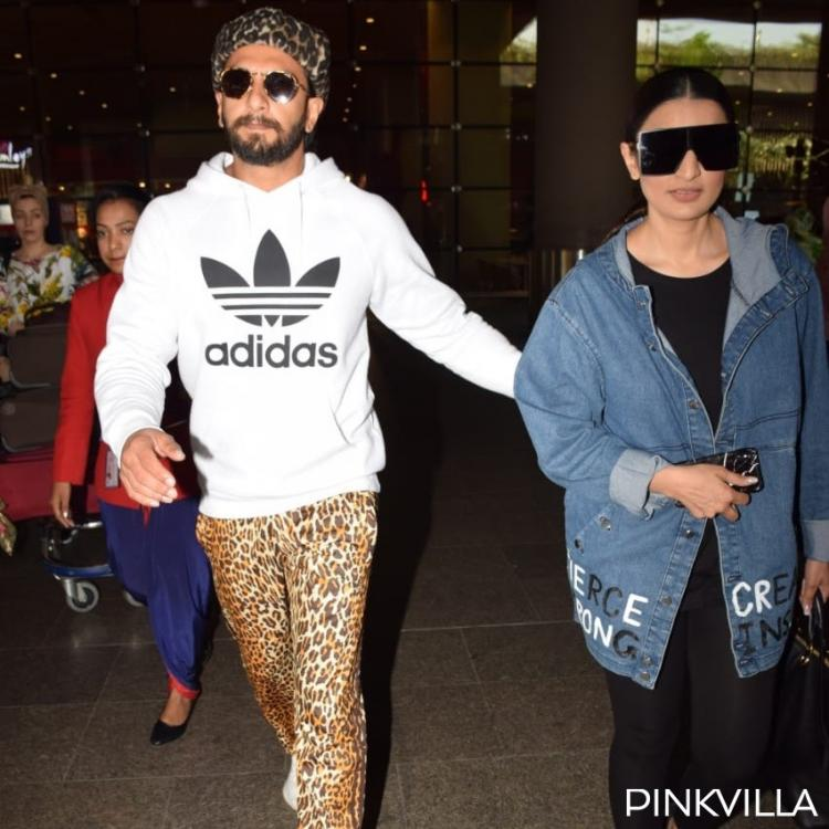Photos: Ranveer Singh & Ritika Bhavnani's airport style is a mix of animal print and oversized jacket