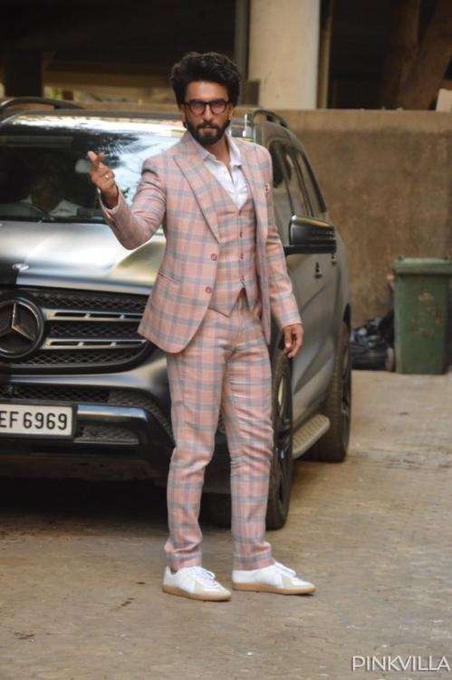 Ranveer Singh in a jovial mood after meeting Sanjay Leela Bhansali; is another movie on the cards?