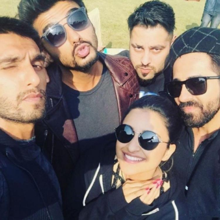 Ranveer Singh, Arjun Kapoor, Parineeti & Ayushmann's goofy expressions seem captivating in a throwback PHOTO