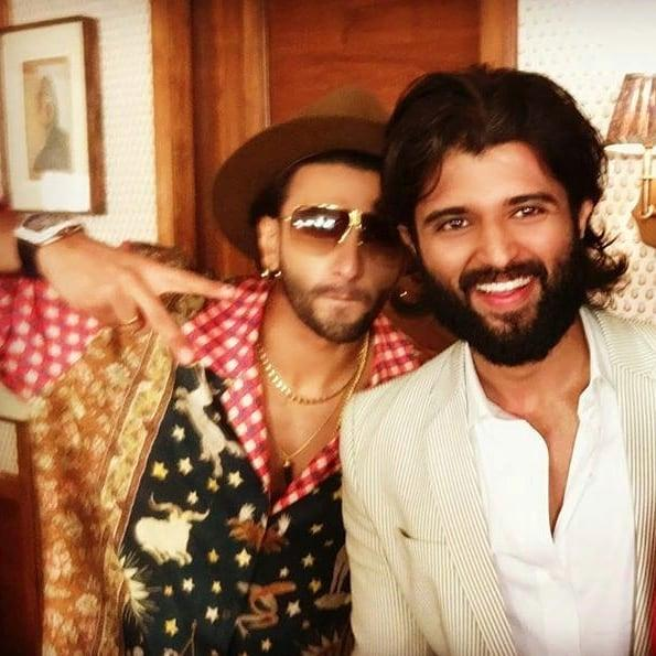 Vijay Deverakonda and Ranveer Singh pose for a staggering selfie and we want to see them in a film ASAP