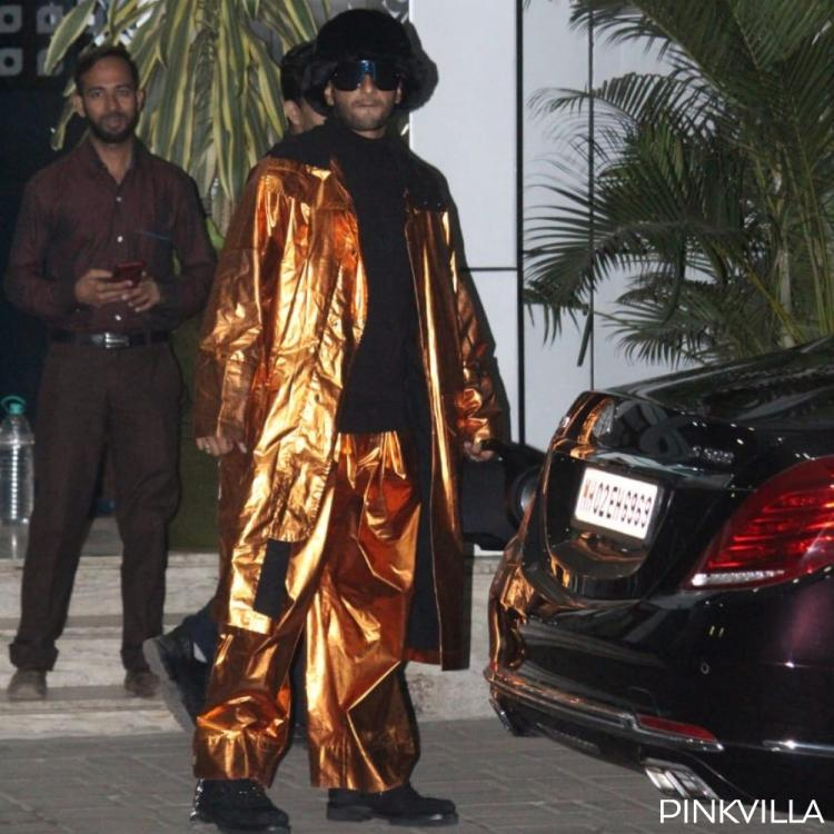 Ranveer Singh's latest photos in a shiny gold outfit invites relentless trolling; Netizens call him 'Joker'