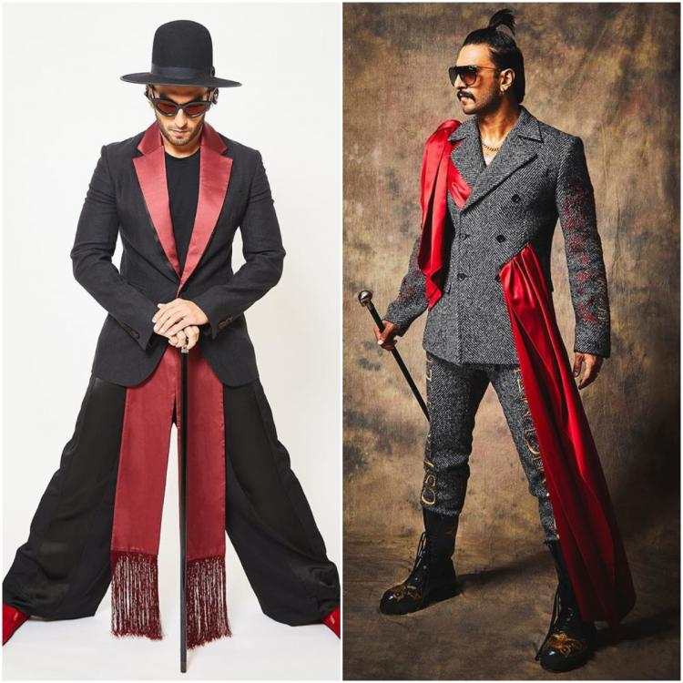Ranveer Singh's latest obsession is the satin sash; sports it in two fashionable ways setting the bar high