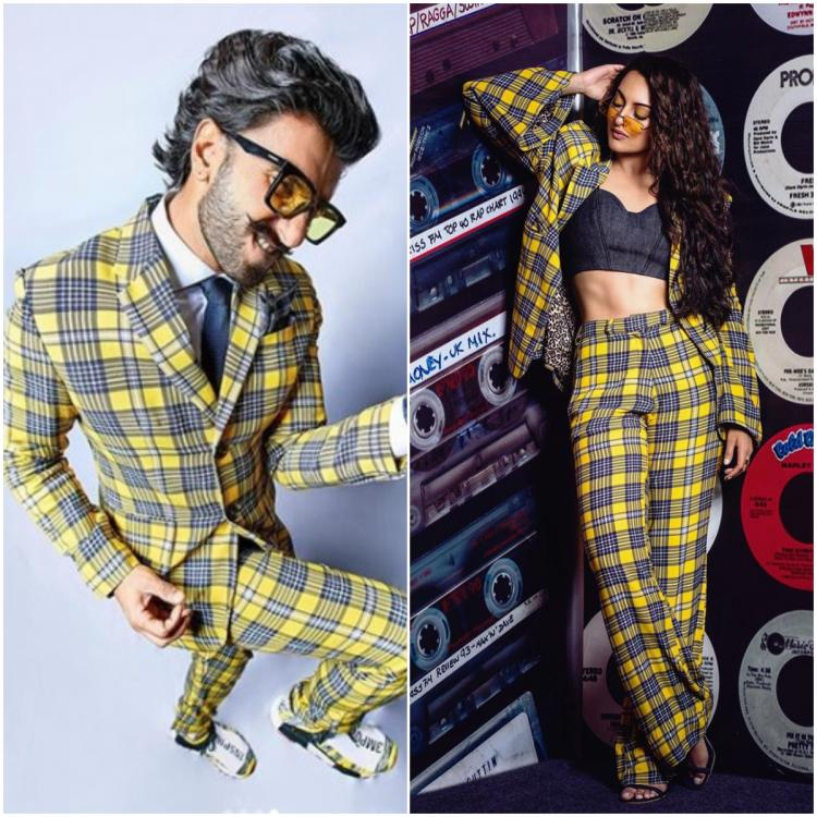 Fashion Faceoff: Ranveer Singh or Sonakshi Sinha: Who wore the Dhruv Kapoor yellow plaid pantsuit better?