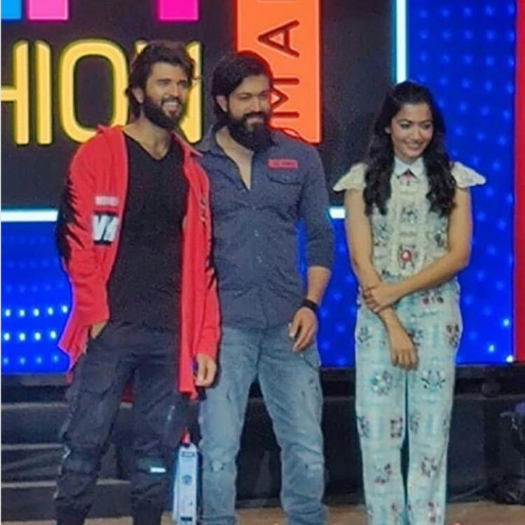 Dear Comrade Music Festival: KGF star Yash receives a grand welcome from Vijay Deverakonda & Rashmika Mandanna
