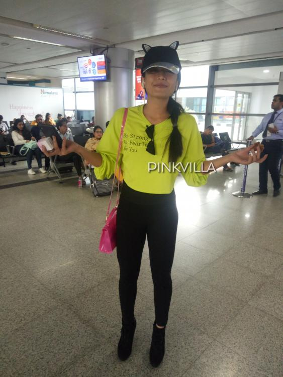 PHOTOS: Rashmika Mandanna looks super cute as she flaunts her cat ear cap at the airport