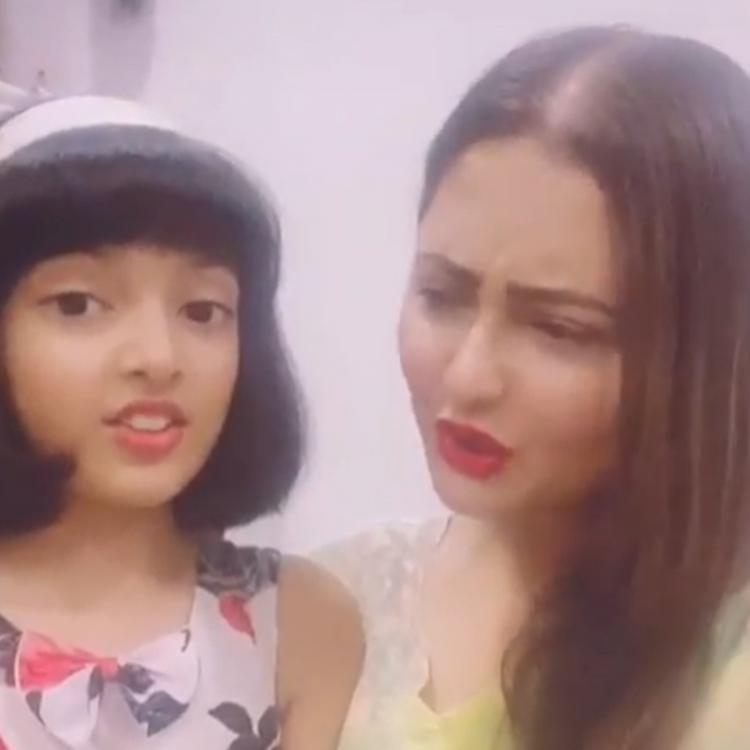 Rashami Desai's niece teases her for being obsessed with social media and her reaction is EPIC; Watch video