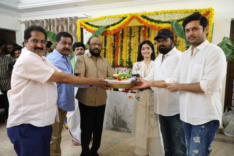 Bheeshma: Rashmika Mandanna and Nithiin's next film gets launched; See Photos