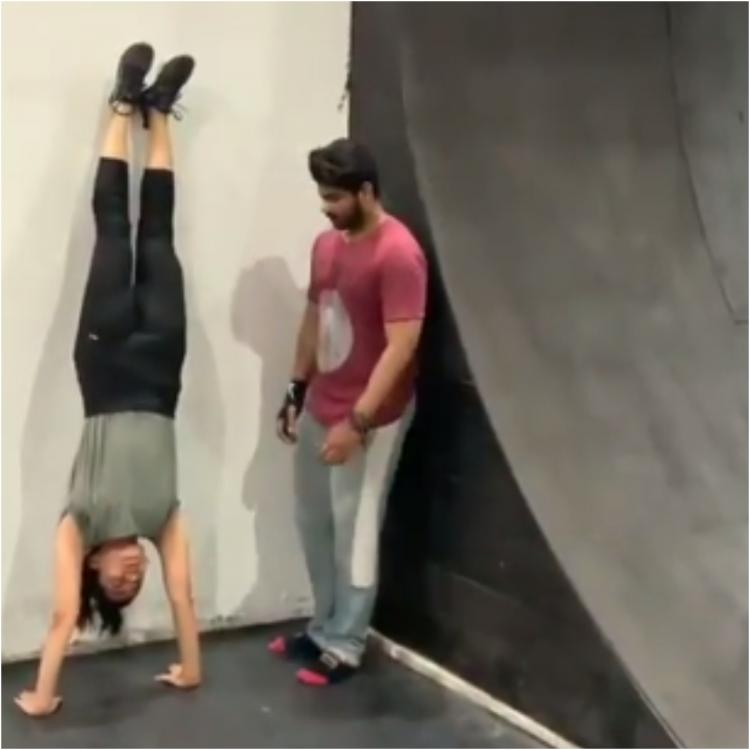 Rashmika Mandanna nails a headstand and backflip in these new workout videos; Check it out