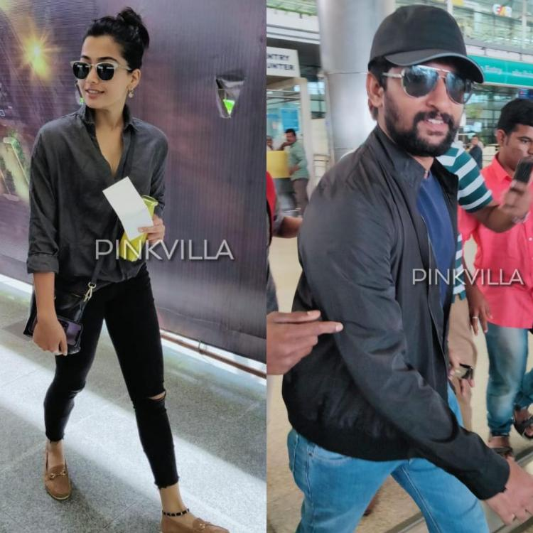 PHOTOS: Rashmika Mandanna and Nani are all smiles as they get papped at the airport