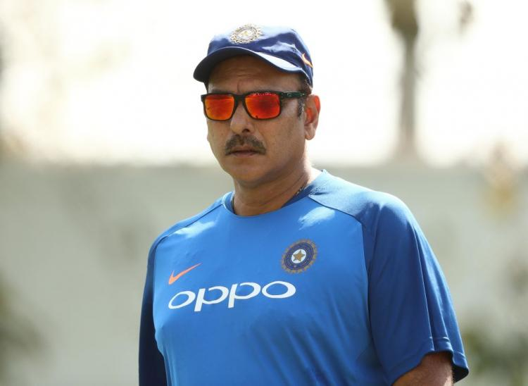 Indian team Head Coach Ravi Shastri urges the squad to walk out with their heads held high post WC semis loss