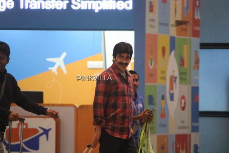 PHOTOS: Ravi Teja spotted at Hyderabad airport as he returns from Goa post Disco Raja shoot