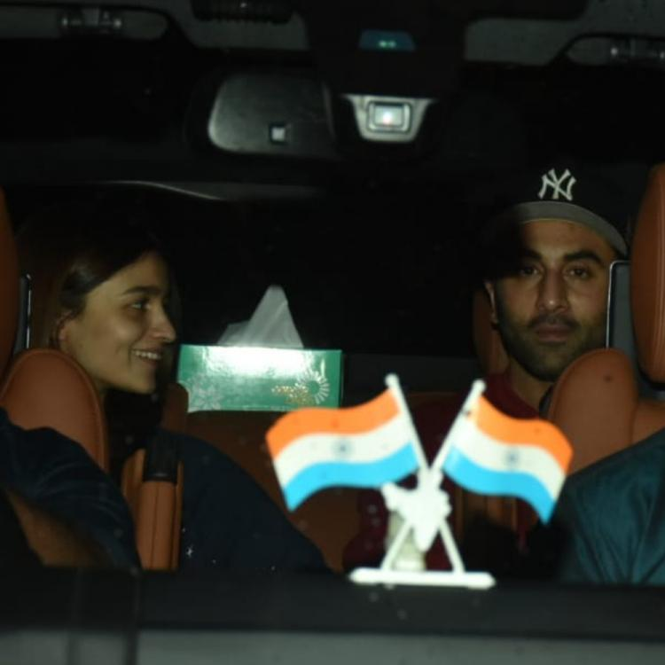 PHOTOS: Ranbir Kapoor & Alia Bhatt arrive at Chehre producer Anand Pandit's office; new film on cards?