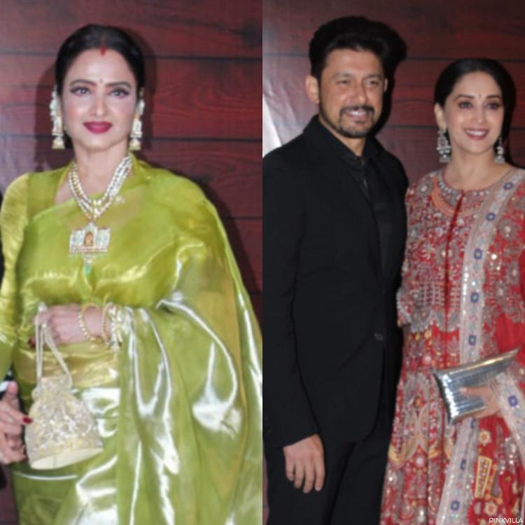 PHOTOS: Rekha, Madhuri Dixit, Jitendra & Waheeda Rehman arrive at Javed Akhtar's 75th birthday bash