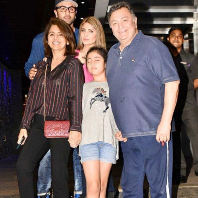 Neetu Kapoor pens an emotional note as she shares a throwback PIC with Rishi Kapoor, Ranbir Kapoor & Riddhima