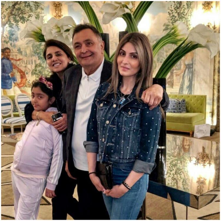 Rishi Kapoor spends his Father's Day with daughter Riddhima Kapoor and family; view PICS
