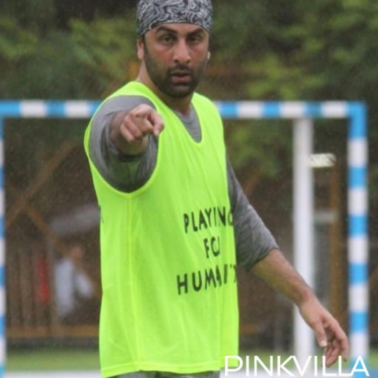 PHOTOS: Ranbir Kapoor looks all pumped up during a football match in the city