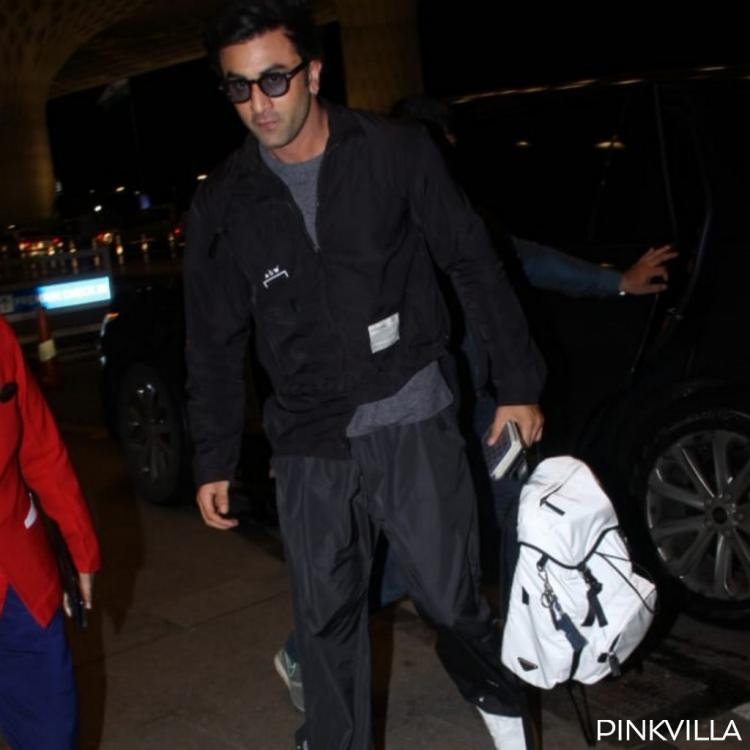 PHOTOS: Ranbir Kapoor opts for a cool and comfy all black look for the airport