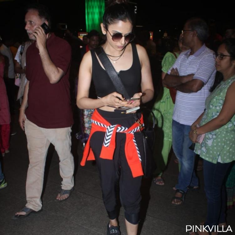 PHOTOS: Rakul Preet Singh shows her love for black as she gets papped at the airport