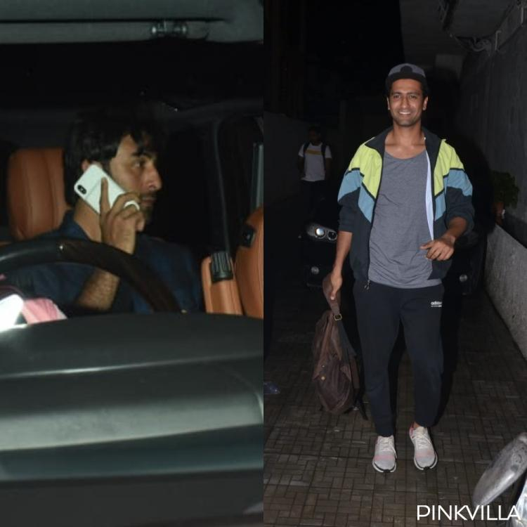 PHOTOS: Ranbir Kapoor, Vicky Kaushal & Kiara Advani get snapped as they arrive at Karan Johar's office