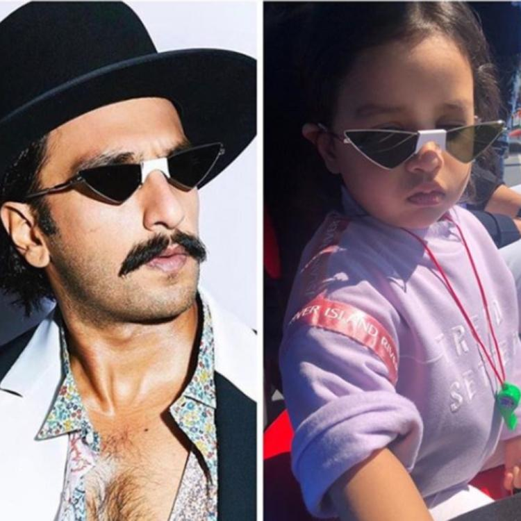 Ranveer Singh & MS Dhoni's daughter Ziva accidentally wear similar glasses & fans are in complete awe