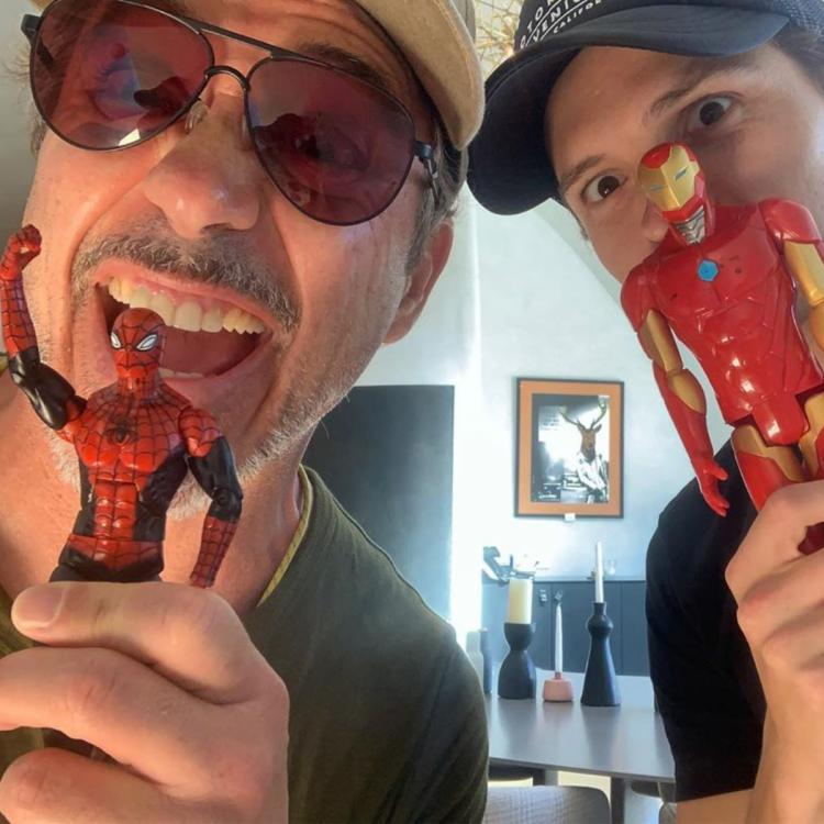 Spider Man Tom Holland shares QUIRKY pics with Iron Man Robert Downey Jr after leaving MCU & Mark Ruffalo sobs