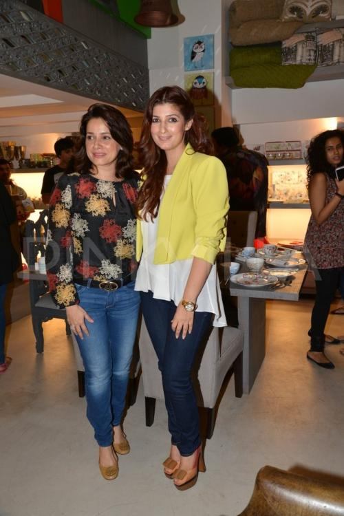 Celebs visit twinkle khanna 39 s 39 the white window 39 store for Interior designs by twinkle khanna