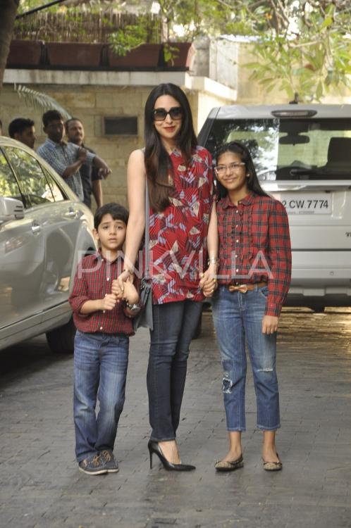 karisma kapoor attends christmas dinner with samiera and
