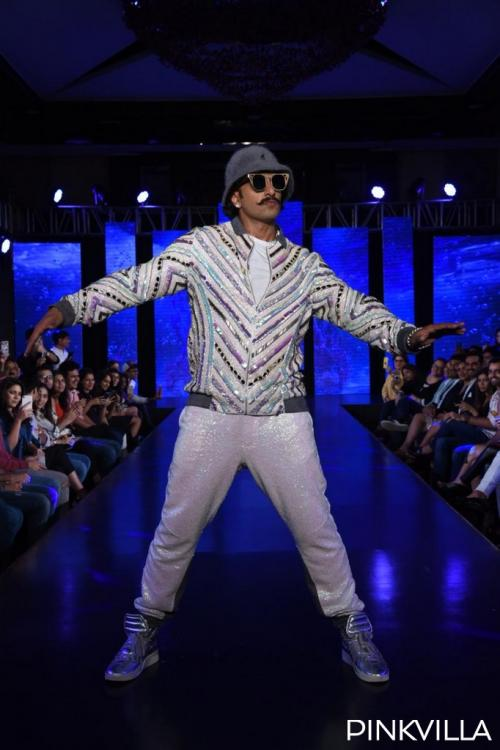 PHOTOS: Ranveer Singh brings his quirk and fun element on the ramp as he walks for friend & designer Simone