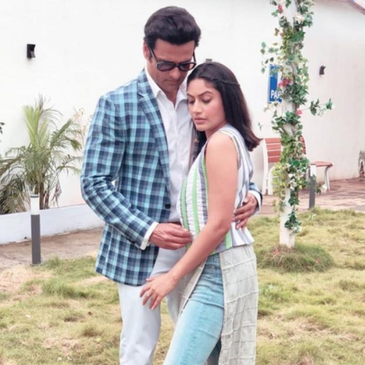 PHOTO: Sanjivani 2 stars Surbhi Chandna and Rohit Roy get clicked together on the sets; Check it out