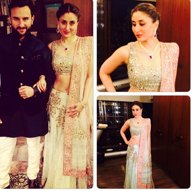 Kareena Kapoor Wedding Dress With Saif Ali Khan