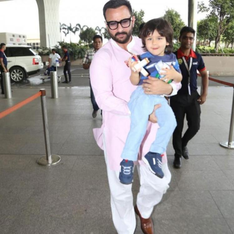 Saif Ali Khan becomes Daddy Cool for son Taimur as he pacifies him in a perfect way; Watch Video