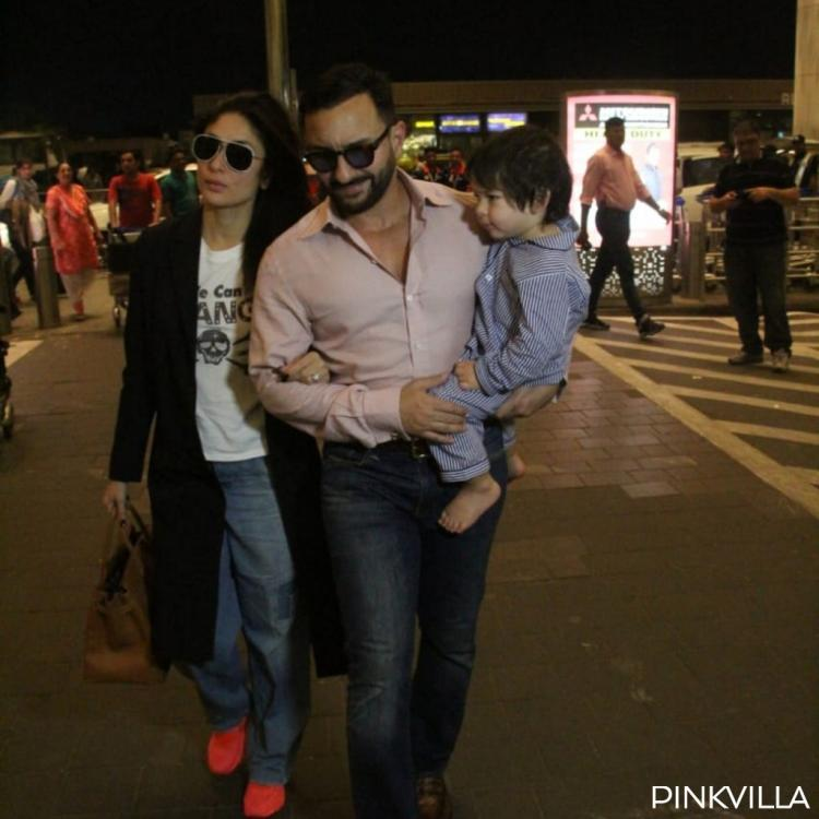 PHOTOS: Kareena Kapoor Khan and Saif Ali Khan leave for London along with little munchkin Taimur Ali Khan